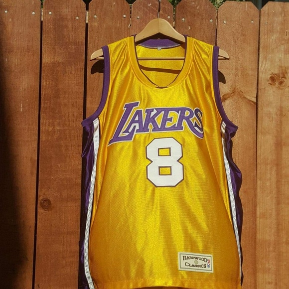 new styles dd70c 9ed84 Lakers Kobe Bryant #8 Hardwood Classics XL Jersey
